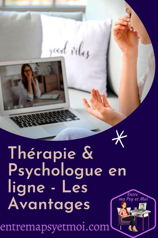 Thérapie et Psychologue en ligne - Les Avantages - pinterest